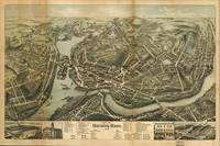 1876 Norwich, CT Bird's Eye View Panoramic Map