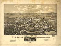 1878 Plainville, CT Bird's Eye View Panoramic Map