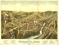 1879 Thomaston, CT Bird's Eye View Panoramic Map