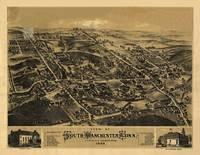 1880 South Manchester, CT Bird's Eye View Panorami