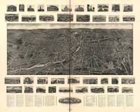 1907 Torrington, CT Bird's Eye View Panoramic Map