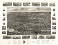 1905 Wallingford, CT Bird's Eye View Panoramic Map