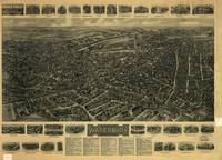 1917 Waterbury, CT Bird's Eye View Panoramic Map