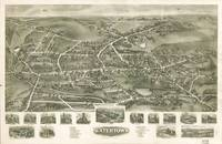 1918 Watertown, CT Bird's Eye View Panoramic Map