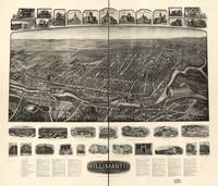 1909 Willimantic, CT Bird's Eye View Panoramic Map
