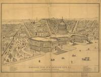 1872 Washington D.C. Bird's Eye View Panoramic Map