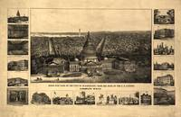 1860 Washington D.C. Bird's Eye View Panoramic Map