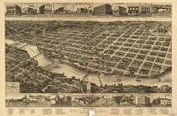 1886 Columbus, GA Bird's Eye View Panoramic Map