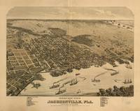 1876 Jacksonville, FL Bird's Eye View Panoramic Ma