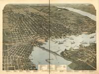 1893 Jacksonville, FL Bird's Eye View Panoramic Ma