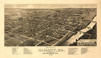 1885 Albany, GA Bird's Eye View Panoramic Map