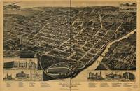 1887 Macon, GA Bird's Eye View Panoramic Map