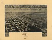 1908 Ocilla, GA Bird's Eye View Panoramic Map
