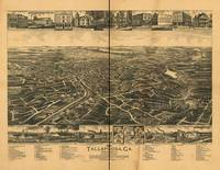 1892 Tallapoosa, GA Bird's Eye View Panoramic Map