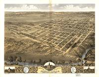 1869 Shelbyville, IL Bird's Eye View Panoramic Map