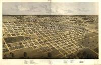 1867 Springfield, IL Bird's Eye View Panoramic Map