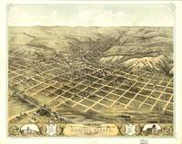 1868 Council Bluffs, IA Bird's Eye View Panoramic
