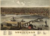 1876 Louisville, KY Bird's Eye View Panoramic Map