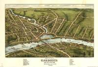 1878 Gardiner, ME Bird's Eye View Panoramic Map
