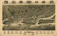 1889 Dubuque, IA Bird's Eye View Panoramic Map
