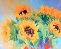 Stunning Sunflowers Oil Painting