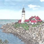 """Portland ME Headlight (Lighthouse)"" by DanAnderton"