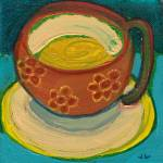 """Floral Coffee Cup No 1"" by JENLO"