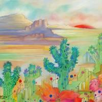 Desert Garden Art Prints & Posters by S Whiteart