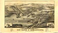 1878 New Castle & Damariscotta, ME Panoramic Map