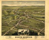 1877 North Berwick, ME Bird's Eye View Panoramic M