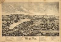 1895 Wilton, ME Bird's Eye View Panoramic Map