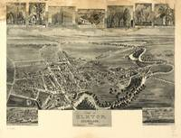 1907 Elkton, MD Bird's Eye View Panoramic Map