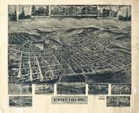 1905 Frostburg, MD Bird's Eye View Panoramic Map