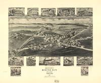 1907 Rising Sun, MD Bird's Eye View Panoramic Map