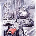 """Last Control Maserati 250 F France GP 1954"" by shevchukart"