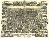 1888 Boston Highlands, MA Panoramic Map