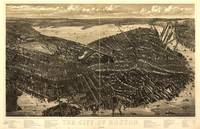 1879 Boston, MA Birds Eye View Panoramic Map