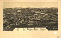 1886 East Douglas, MA Panoramic Map