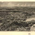 """1898 East Walpole, MA Panoramic Map"" by PaperTimeMachine"