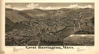 1884 Great Barrington, MA Panoramic Map
