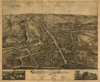 1877 Greenfield, MA Birds Eye View Panoramic Map