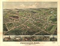 1879 Foxborough, MA Birds Eye View Panoramic Map