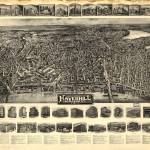 """1914 Haverhill, MA Birds Eye View Panoramic Map"" by PaperTimeMachine"