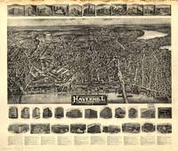 1914 Haverhill, MA Birds Eye View Panoramic Map