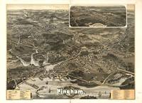 1885 Hingham, MA Birds Eye View Panoramic Map