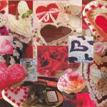 """Valentine Hearts and Flowers and Candy"" by gflcreations"