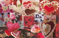 Valentine Hearts and Flowers and Candy