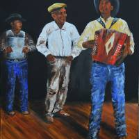 Geno Delafose   Musician  Zydeco ( KIP HAYES ART) Art Prints & Posters by Larry