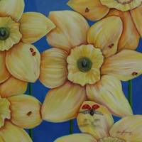 Daffodills and Ladybugs