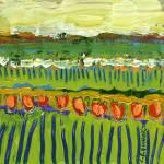 """""""Landscape in Orange and Green"""" by JENLO"""